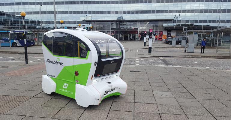 Aurrigo starts self-driving pod trials in Milton Keynes