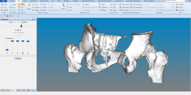 "ALPHACAM ""Vital"" for Orthopaedic Implant Experts"