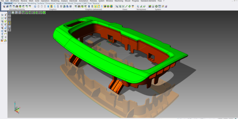 Deburring, Reverse, and Graphics Enhancements to Mould and Die Software