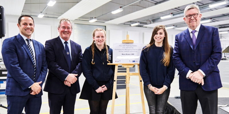 Former apprentice and motorsport legend opens new oas training centre