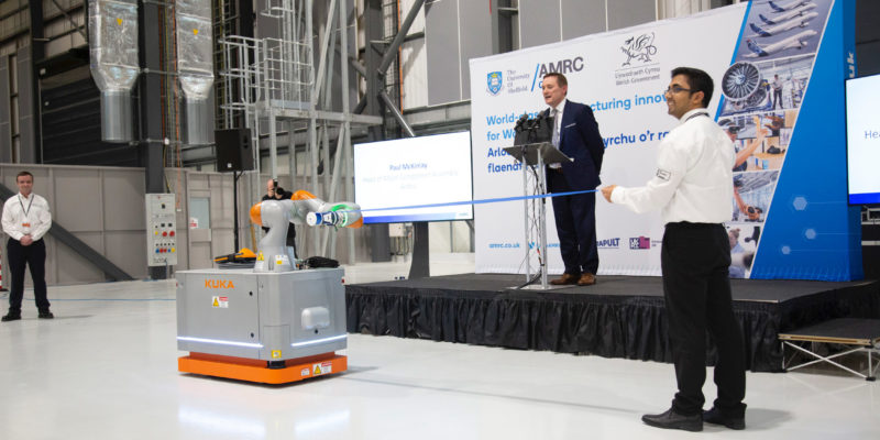 SCHUNK Gripper Plays Central Role in AMRC Wales Opening Ceremony