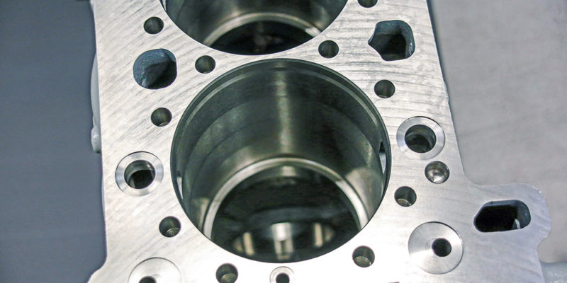 Highly precise machining of truck engine cylinder bores