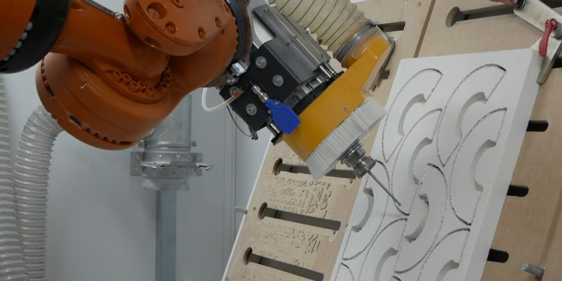 CNC Robot Driven By ALPHACAM Cuts High Temperature Furnace Insulation Boards