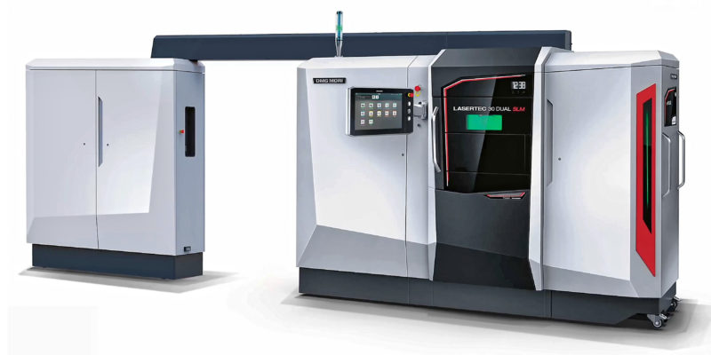 DUAL-LASER, POWDER BED, ADDITIVE MANUFACTURING MACHINE