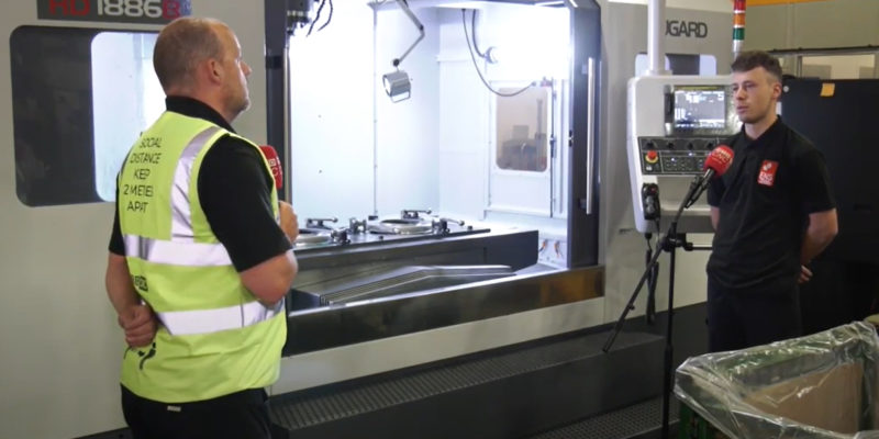 Over 800mm Y axis on this HD VMC installed at ENS Precision