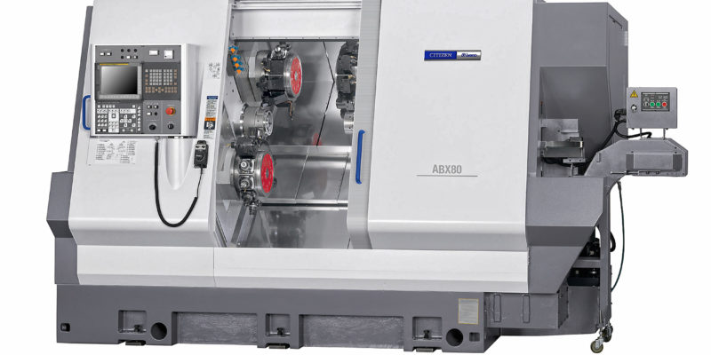 Triple Y-axis turret lathe has 80 mm bar capacity