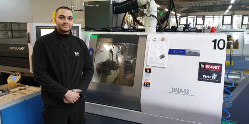 Sliding Head Lathes Optimally Programmed with ESPRIT