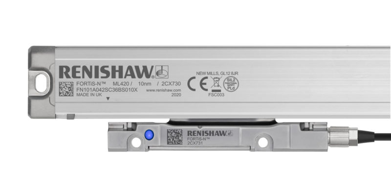Renishaw launches the FORTiS™ range of next-generation enclosed linear absolute encoders