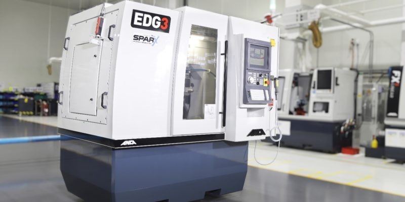 ANCA's new EDG with ANCA Motion SparX Erosion Generator decreases cycle time for PCD tools up to 50%