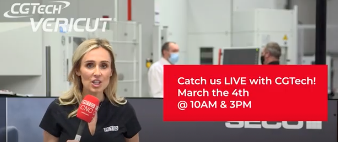 CGTech VERICUT Force Live event from Seco UK – 4th March