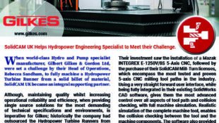 SolidCAM UK Helps Hydropower Engineering Specialist to Meet their Challenge