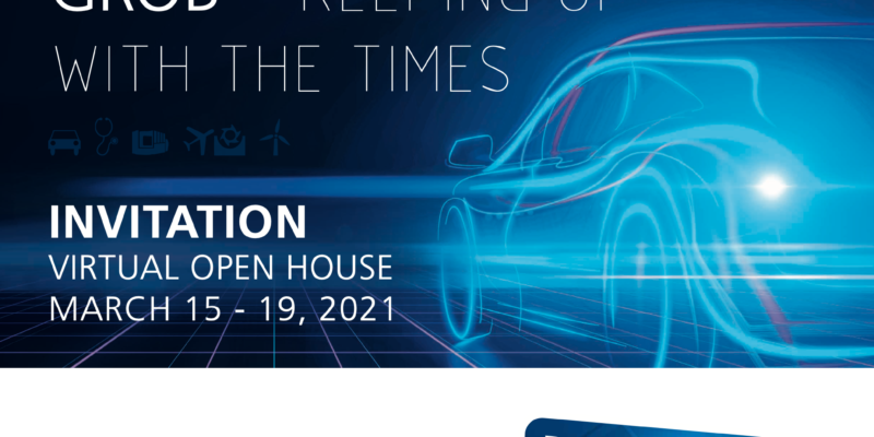 GROB Virtual Open House 15 – 19th March