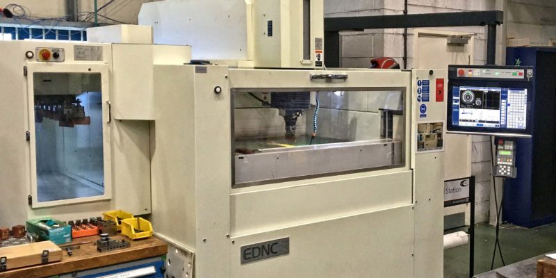 High precision EDM machine for cable tie mould manufacture reduces electrode use by 40%