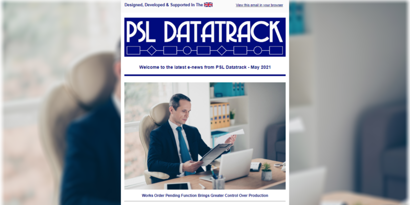 PSL Datatrack Monthly e-newsletter coming soon