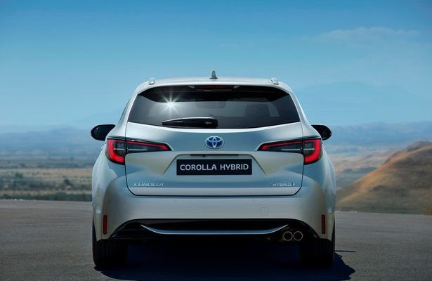 Toyota Corolla Hybrid From Behind