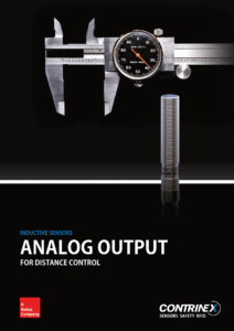 Contrinex analogue inductive sensor brochure